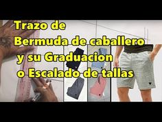 Trazo de bermuda de caballero y su graduación o escalado de tallas Sewing, Youtube, Diy, Crafts, Women, Mens Boardshorts, Moda Masculina, Men's, Punch