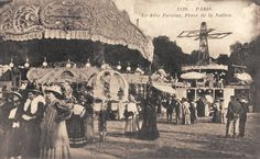 place de la Nation - Foire du Trône - Paris 11ème/12ème - Les superbes manèges de la Foire du Trône, vers 1900...