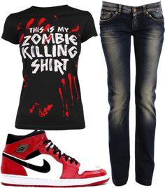 """Zombie Killing"" by kassidy-taylor on Polyvore"