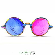 In love!! #rave #edm #glasses  http://iedm.com/ Tribal 3D Kaleidoscope Glasses- Sapphire