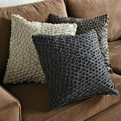 SCALLOPED FELT PILLOW COVER  $34.00 SPECIAL $27.00