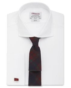 Slim Fit White Luxury Oxford Cutaway Collar Shirt