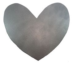 Large Silver Wooden Heart Fancyhearts.com
