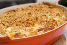 3-cheese crookneck squash parmigiana Recetas Zuchinni, Zuchinni Recipes, Potato Recipes, Vegetable Recipes, Crookneck Squash Recipes, Veggie Dishes, Fruits And Veggies, Food Preparation, Casserole Recipes