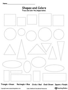Trace Shapes to Make a Face | Tracing shapes, Worksheets and ...