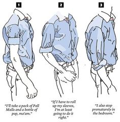 MEN PLEAS -- 18 Incredibly Simple Things Any Man Can Do To Look Better: For the business casual set: forgo your short-sleeved dress shirts for rolled-up long-sleeved ones. Look Man, That Look, Look 2015, La Mode Masculine, Roll Up Sleeves, Shirt Sleeves, Men Style Tips, Style Men, Men's Style