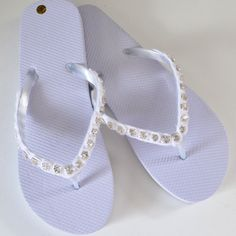 Rhinestone Flip Flops Tutorial - Dream a Little Bigger