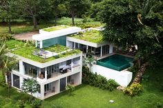 Garden on the roof house  http://www.adelto.co.uk/extravagant-natural-residence-by-kalia/