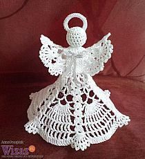 Crochet Patterns Christmas angels, stars and others on Stylowi. Quilted Christmas Ornaments, Crochet Ornaments, Crochet Snowflakes, Christmas Angels, Handmade Christmas, Crochet Angel Pattern, Crochet Angels, Crochet Patterns, Knitting Patterns