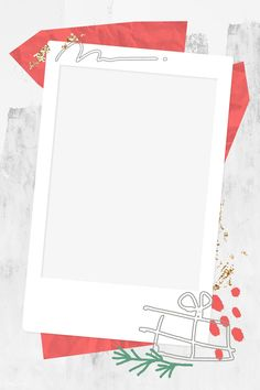 Decorative Christmas instant photo frame vector | premium image by rawpixel.com / nunny Christmas Pattern Background, Polaroid Frame Png, Instagram Frame Template, Instagram Background, Collage Template, Christmas Frames, Instagram Story Ideas, Note Paper, Graphic Design Posters