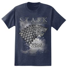 Amazon Com Hbos Game Of Thrones Mens Winter Is Coming Stark T Shirt