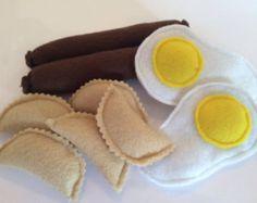 Felt Food - Pretend Play - Play Kitchen Food - Birthday Gift - Kitchen Toys - Felt Play Food - Preschool Toys - Felt Toy - Feeding Toys