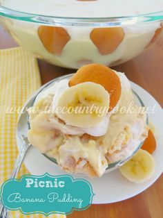 The Country Cook: Picnic Banana Pudding.  Real from scratch goodness.