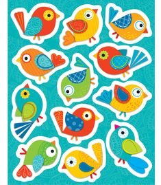 Boho Birds Shape Stickers (CD-168120) #classroom #decor #AILtyler