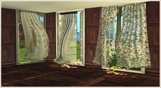 Lana CC Finds - Wind Blown Curtains by daer0n