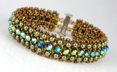 Purchased this kit at the philly bead show from Beads gone wild. A new adventure in right angle weave.