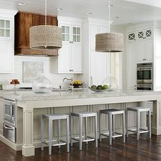 Island with Warming Drawer, Transitional, Kitchen