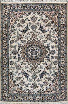 """Nain Persian Rug, Buy Handmade Nain Persian Rug 3' 10"""" x 5' 9"""", Authentic Persian Rug"""