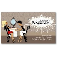 Nail Salon Business Card by Colourful Designs