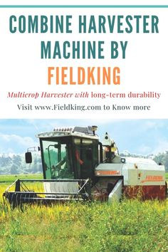 Fieldking combine machine are equi[ped with fuel-efficient engines. A true multi crop harvester, best fit for crops like Rice, Wheat, Soyabean and Corn. Learn more about Fieldking combine machine click on the image or visit the website - #combine #combineharvester #harvester #farmequipment #farmmachine #farmimplement #newmachine #agriculture #agricultureequipment #farmequipment #equipment Harvest Corn, Agriculture Machine, Combine Harvester, Tractors, Rice, Website, Image, Laughter, Jim Rice