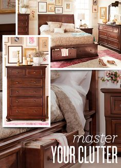Stop letting your clothes pile up everywhere! Our Hanover bed is classic AND it can help with your clutter problem!