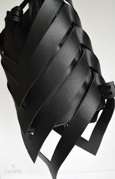 Side detail shot of the black vegan leather bag Vegan Leather, Leather Bag, Unique Bags, Cruelty Free, Detail, Handmade, Black, Fashion, Moda