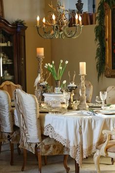 old world table setting. ///////////South Shore Decorating Blog: Weekend Roomspiration #12