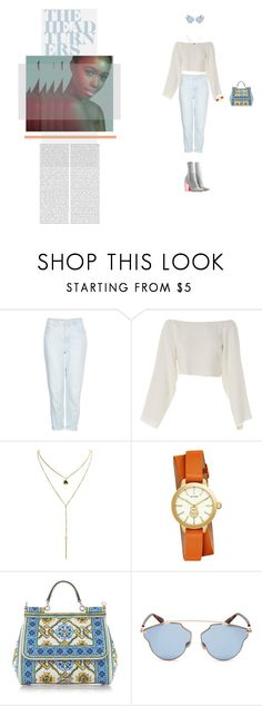 """""""Light Blue"""" by naudad ❤ liked on Polyvore featuring CO, Topshop, CÉLINE, Tory Burch, Dolce&Gabbana and Christian Dior"""