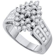 1 CTW-Diamond CLUSTER RING