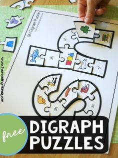 If you enjoyed our printable alphabet puzzles, you're sure to also love our printable digraph puzzles! Much like our Speech Sounds pack, these printable digraph puzzles can be used to work on phonics or to work on speech sounds for the ch, sh, & th digrap Phonics Reading, Teaching Phonics, Kindergarten Literacy, Teaching Reading, Preschool, Reading Tutoring, Reading Comprehension, Teaching Resources, Speech Therapy Activities