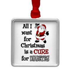adornos de regalo de esperanza de diabetes