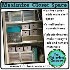 Clutter-Free Classroom: Creating Storage in the Classroom, tons of great tips and ideas!
