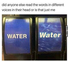 woah i did read them differently, the one on the left is a deep voice and the one on the right is like a voice from an advertisement