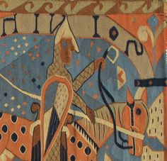 Vintage Norwegian Tapestry - detail