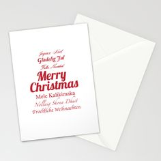 "Merry Christmas Many Times Over 2, by Maureen Bates Photography Set of folded stationery cards printed on bright white, smooth card stock to bring your personal artistic style to everyday correspondence. Each card is blank on the inside and includes a soft white, European fold envelope for mailing. Stationery Cards / Set of 3/5/10 Folded Cards (5"" x 7"") Starting at $12.00"