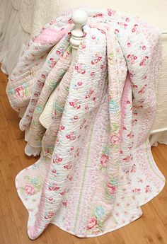 Megan Pink Rose Romantic Cottage quilt