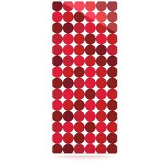 """East Urban Home Dots 'Noblefur Red' Graphic Art Print on Metal Size: 20"""" H x 16"""" W x 1"""" D"""
