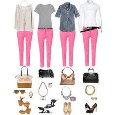One Key Wardrobe Piece Styled Four Ways:  Pink Pants