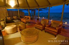 Kalahari Plains Camp - Kalahari Plains Camp is perfectly situated overlooking an immense pan with endless horizons and beautiful skies. #Safari #Africa #Botswana #WildernessSafaris