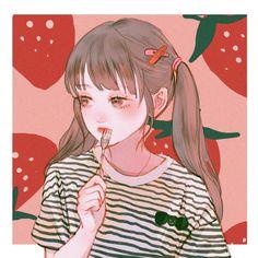 Image in Anime💜Drawings💜Art collection by Amany Cartoon Art Styles, Cute Art Styles, Kawaii Art, Kawaii Anime, Aesthetic Art, Aesthetic Anime, Poses References, Cute Anime Pics, Digital Art Girl