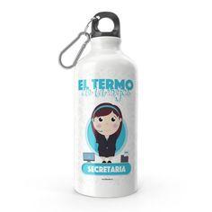 Termo - El termo del mejor secretaria, encuentra este producto en nuestra tienda online y personalízalo con un nombre. Water Bottle, Drinks, Water Bottles, Secretary, Carton Box, Store, Crates, Drinking, Beverages