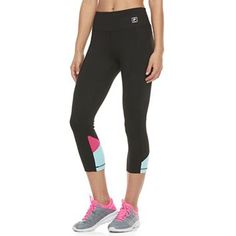 Women s FILA SPORT® Color Block Inset Capri Leggings Capri Leggings b4bb69dc858