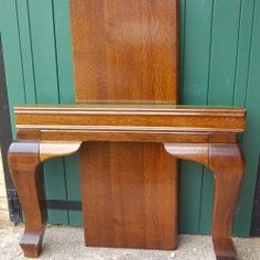 Riley 7ft oak snooker diner on cabriole legs. | Browns Antiques Billiards and Interiors.