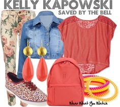 Inspired by Tiffani Thiessen's character Kelly Kapowski on Saved By The Bell.