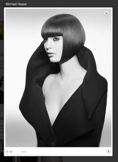 Shape of hair and wardrobe