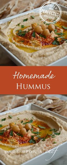 Make your own hummus. Homemade hummus isn't hard and this dip recipe is going to be delicious. Healthy Recipes, Healthy Snacks, Cooking Recipes, Dip Recipes, Copycat Recipes, Tahini, Appetizer Recipes, Appetizers, Homemade Hummus