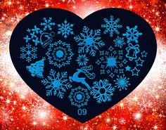 Nails - NAIL ART IMAGE STAMPING PLATE (HEART-SERIES) for sale in Virginia (ID:218456223)