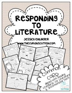 Over 100 Responding to Literature pages that are adorable, unique, and engaging.  These responding pages cover all of the Literature and Informational Text Standards for First Grade Common Core!