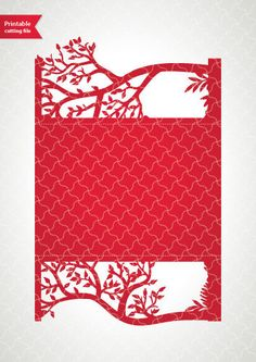 Cricut / Silhouette template for laser cut wedding invitation with tree, standard size, love story card template for die cutting Cricut Wedding Invitations, Wedding Invitation Templates, Invitation Cards, Invitations Online, Wedding Silhouette, Tree Silhouette, Cricut Cards, Origami, Pop Up Cards