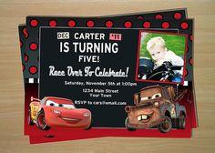 Disney Cars Birthday Invitation  Custom by LilMimisDesigns on Etsy, $11.50